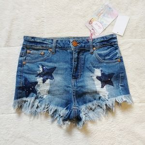 3/$25⚡ Almost Famous High Rise Distressed Shorts